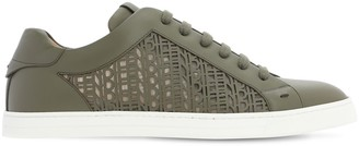 Fendi Perforated Logo Leather Sneakers