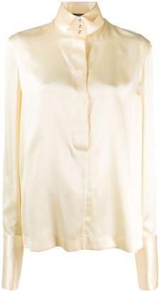 Gianfranco Ferré Pre Owned 1990s Long-Sleeve Silk Shirt