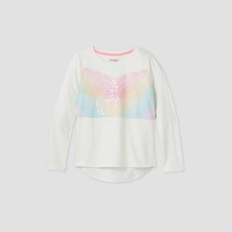 Cat & Jack Girls' Long Sleeve Flip Sequin Unicorn T-Shirt - Cat & JackTM