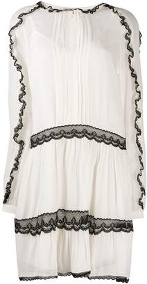 Twin-Set lace trim dress