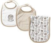 Little Me Safari Bib & Burp Cloth 3-Piece Set
