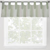 B. Smith Park Park Ticking Stripe Tab-Top Valance