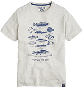 Joules Catch Of The Day Graphic Print T-shirt, Crem Marl