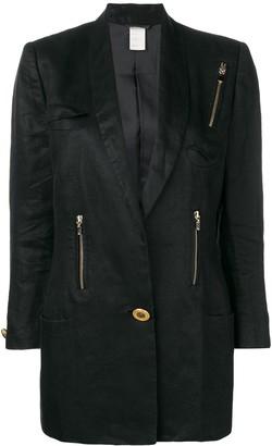 Versace Pre-Owned Zip Detail Blazer