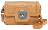 Longchamp Gatsby Croc Embossed Leather Crossbody