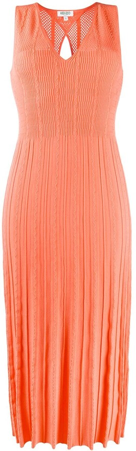Kenzo Sleeveless Knit Midi Dress