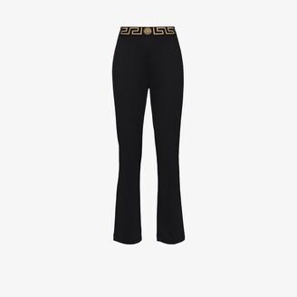 Versace Greca border flared track pants