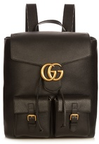 Gucci Running Gg Grained-leather Backpack