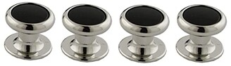 David Donahue Onyx and Brass Shirt Studs (Silver) Cuff Links