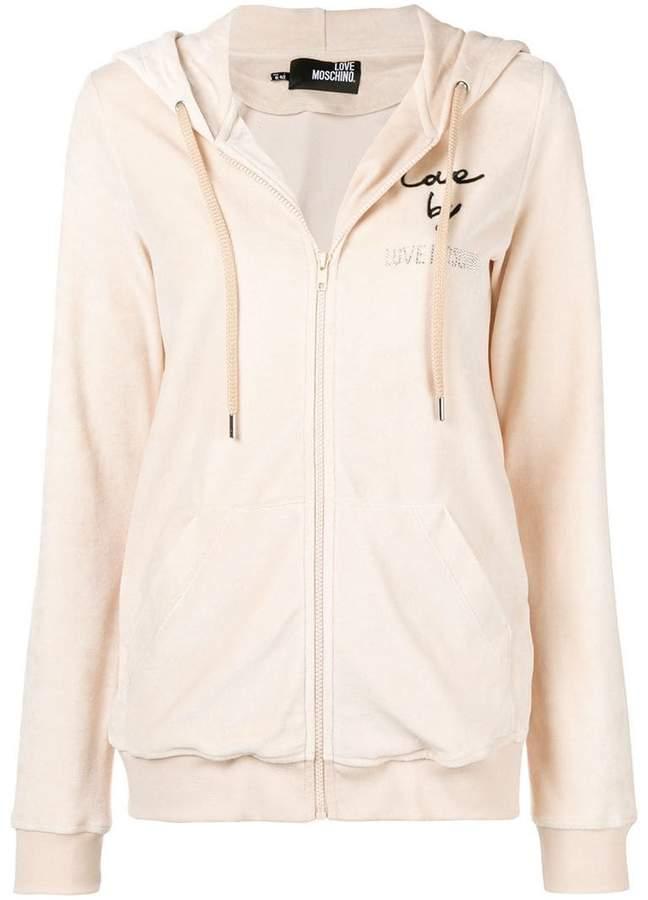 Love Moschino Love zipped hoodie