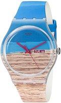 Swatch Unisex SUOK706 Blue Pine Analog Display Quartz Multi-Color Watch
