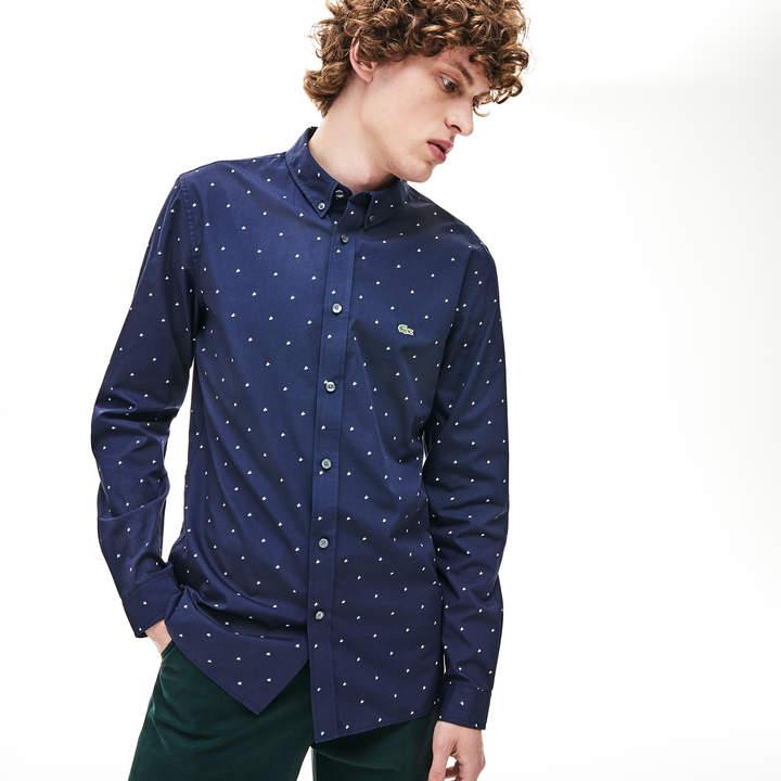6ed9d28405 Men's Slim Fit Printed Cotton Poplin Shirt