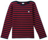 Petit Bateau Boys sailor shirt in thick jersey
