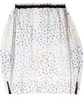 Julien David Appliquéd Tulle Skirt