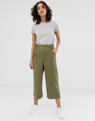 Only cropped wide leg pants