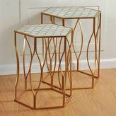 Stylecraft Gold Finish Metal Nesting Table 2-piece Set