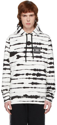 Burberry White and Black Watercolor Hoodie