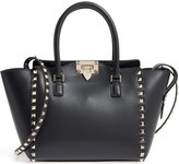 Valentino Rockstud Small Double Handle Leather Tote