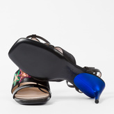 Paul Smith Women's Black Leather 'Stella' Heeled Sandals With Star Appliqué
