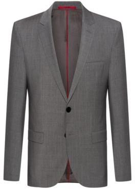 HUGO BOSS - Extra Slim Fit Jacket With Two Way Stretch - Dark Grey