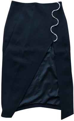 David Koma Black Wool Skirt for Women