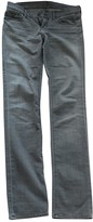 7 For All Mankind Grey Cotton Jeans for Women
