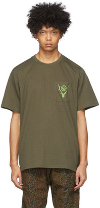 South2 West8 Khaki Round Pocket T-Shirt