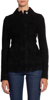Altuzarra Suede Fringe Leather Jacket