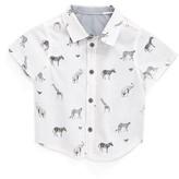 Armani Junior Infant Boy's Animal Print Sport Shirt