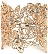 GUESS by Marciano Women's Gold-Tone Floral Cuff Bracelet