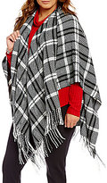 Westbound Plus Fringe Plaid Wrap