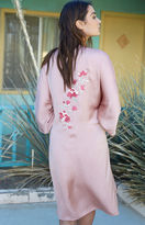 Honey Punch Embroidered Silky Kimono