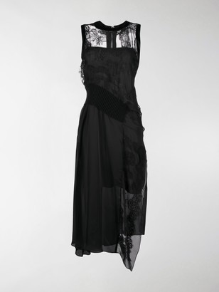 Sacai Lace Panel Evening Dress