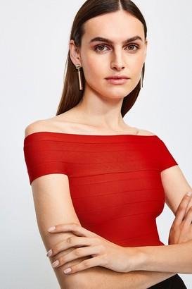 Karen Millen Bardot Bandage Knit Top