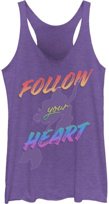 "Licensed Character Juniors' Disney's The Little Mermaid ""Follow Your Heart"" Tank"