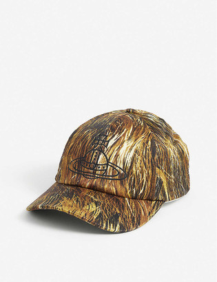 Vivienne Westwood Hair-print cotton-blend baseball cap