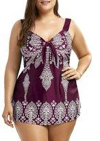 Tiiny Plus Size Swim Top Tankini Print Natural swimsuit For Women Padded Big