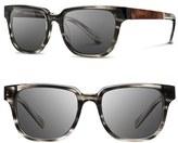 Shwood Women's 'Prescott' 52Mm Acetate & Wood Sunglasses - Pearl Grey/ Elm Burl/ Grey