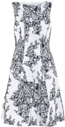 Oscar de la Renta Floral fil-coupe dress