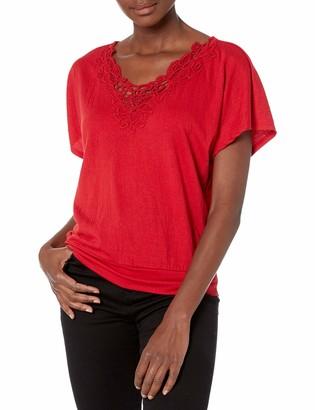 Amy Byer A. Byer Women's Tie Back Short Sleeve Top