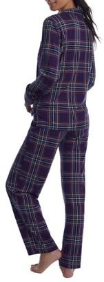 Lauren Ralph Lauren Purple Plaid Knit Pajama Set