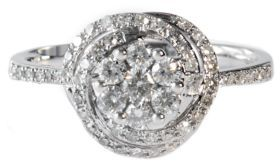 EFFY COLLECTION 14Kt. White Gold Cluster Diamond Ring