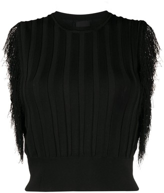 Pinko Fringed Knitted Top