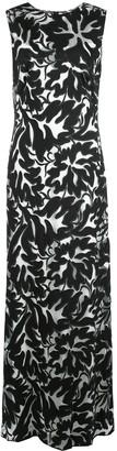 Tadashi Shoji Floral Jacquard Sleeveless Gown