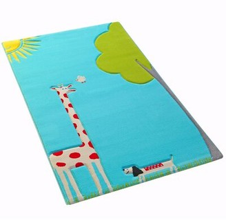 """Zoomie Kids Troutman Tufted Turquoise Rug Rug Size: Rectangle 3'3"""" x 4'11"""""""