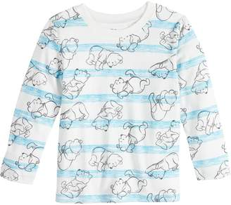 Pooh Baby Disneyjumping Beans Disney's Winnie the Boy Striped Graphic Tee by Jumping Beans