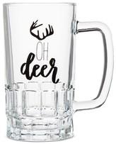"Threshold Oh Deer"" Beer Stein Glass 16.5oz"