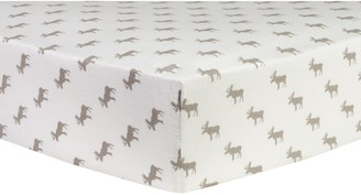Trend Lab Moose Silhouettes Flannel Fitted Crib Sheet