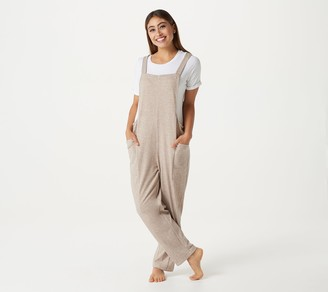 AnyBody Petite Double Knit Overall Jumpsuit