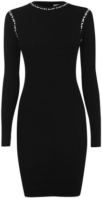 MICHAEL Michael Kors Long Sleeve Trim Dress